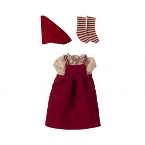 Maileg - 14-1702-01 - Vêtements de Noël, Souris moyenne - Fille, taille : H : 18 cm  (472090)