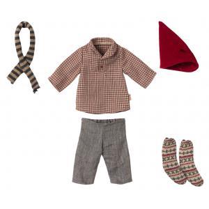 Maileg - 14-1703-01 - Vêtements de Noël, Souris moyenne - Garçon, taille : H : 21 cm  (472094)