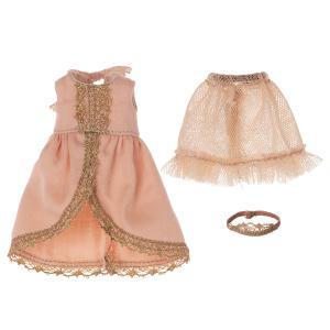 Maileg - 16-1735-02 - Robe princesse pour grande soeur souris - Rose, taille : H : 9 cm  (472140)