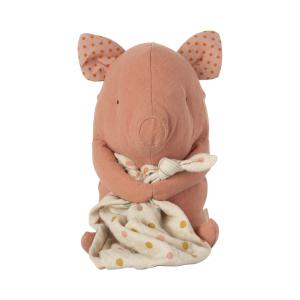 Maileg - 16-1973-00 - Amis berceuse, Cochon, taille : H : 32 cm  (472208)