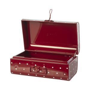 Maileg - 19-1533-00 - Valise de rangement, Small - Rouge w. points, taille : H : 15 cm - L : 35 cm - l : 20 cm (472218)
